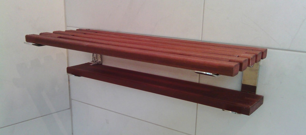 Polica etažer tikovina kupatila online