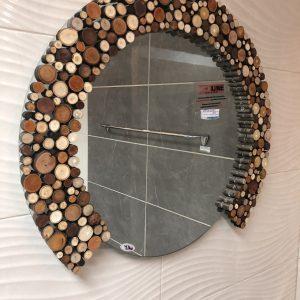 Ogledalo drvo krug kupatila online