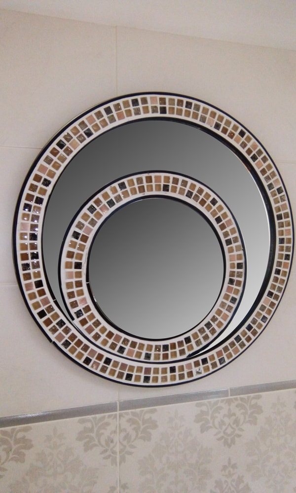 Ogledalo mozaik okruglo kupatila online
