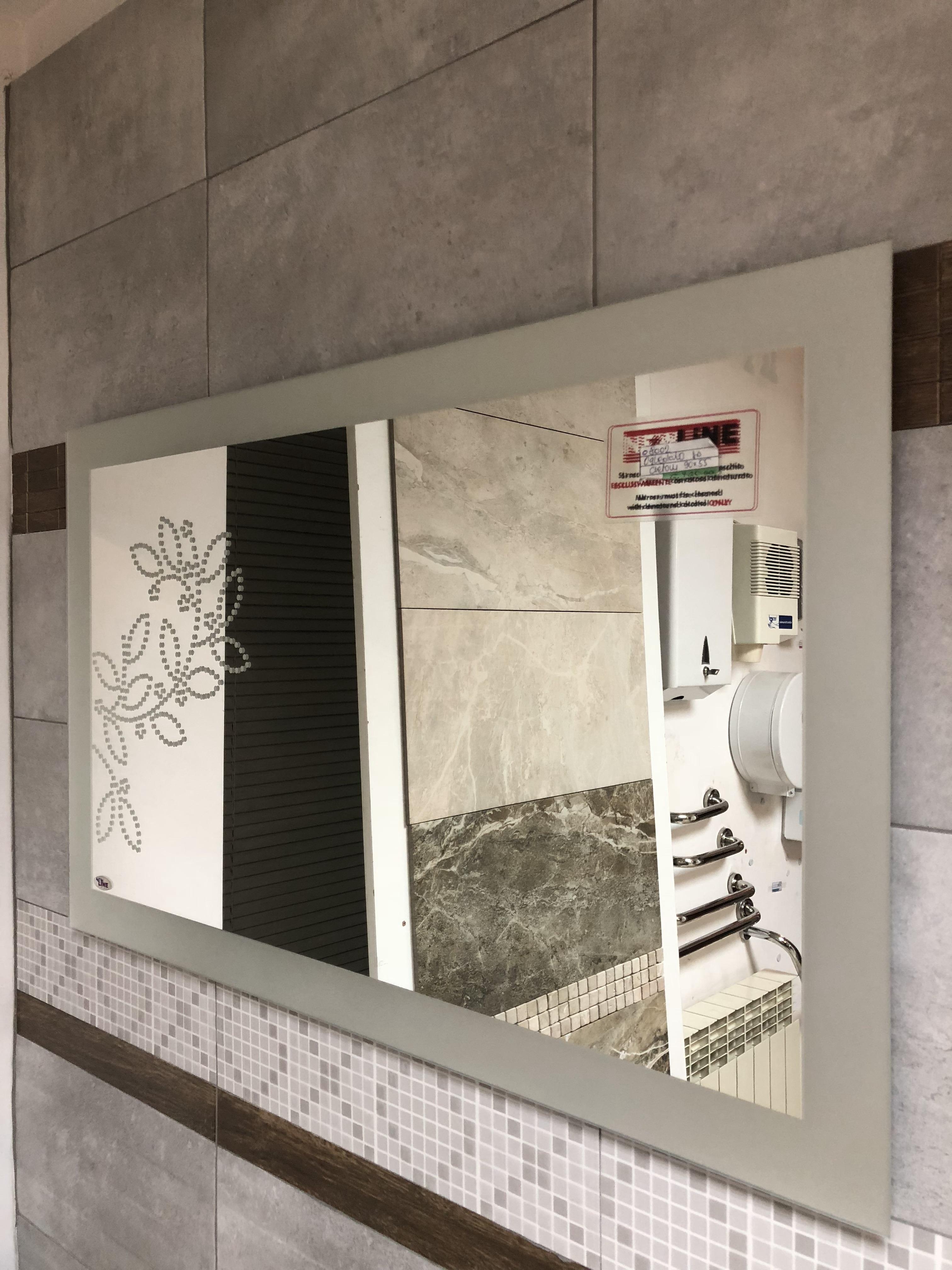 Ogledalo vertikalno peskirane ivice kupatila online