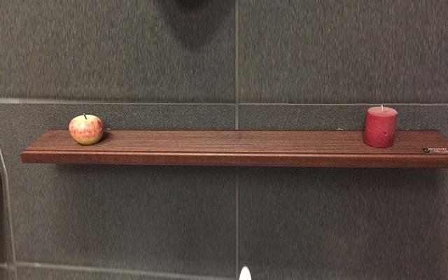Polica tikovina 55 cm kupatila online