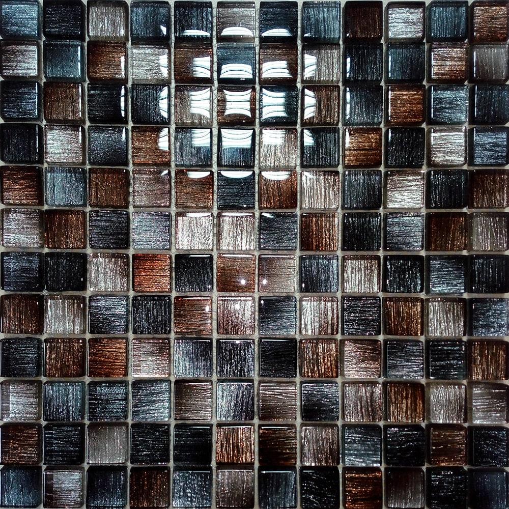 Braon-crni stakleni mozaik kupatila online