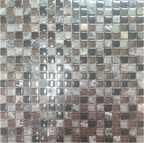 Braon stakleni mozaik kupatila online