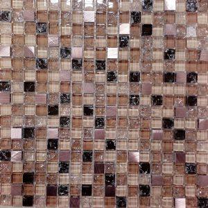 Crveni stakleni mozaik kupatila online