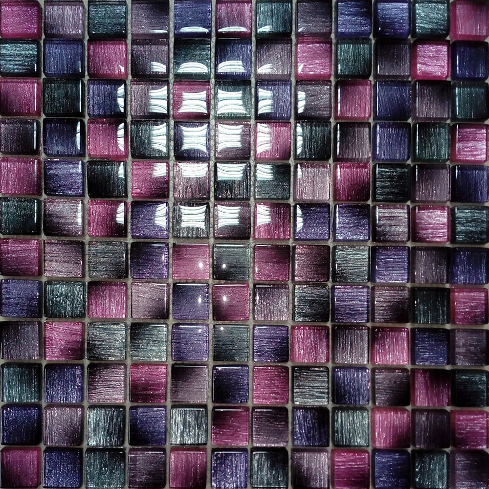 Roze stakleni mozaik kupatila online