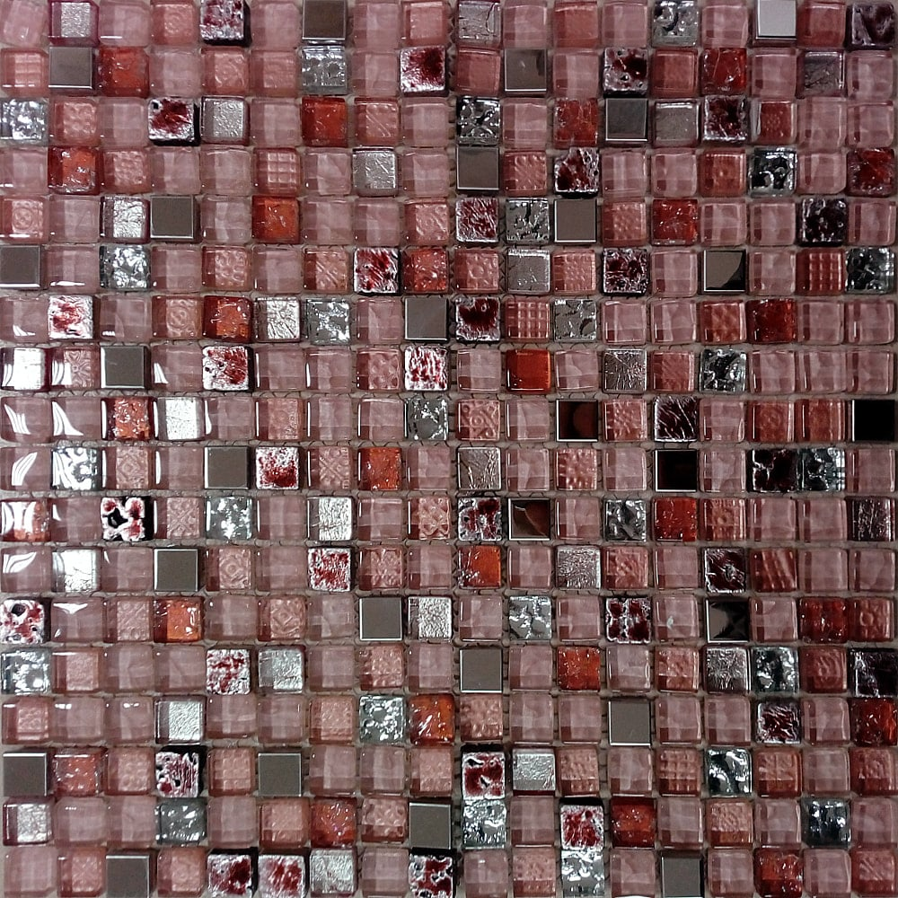 crveno stakleni mozaik kupatila online