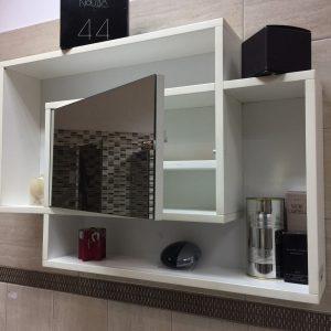 Konzolni ormarić sa ogledalom-beli namestaj kupatila online