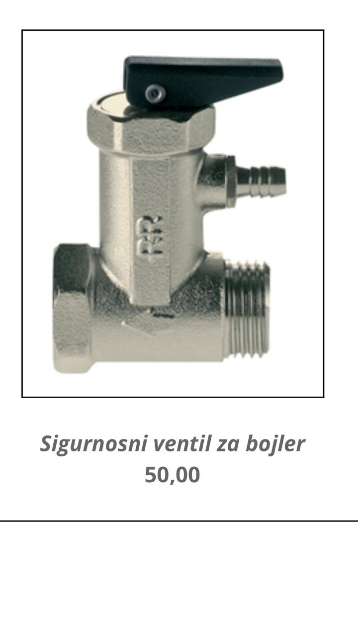 Sigurnosni ventil za bojler kupatila online