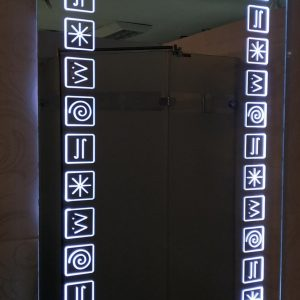 Led ogledalo hireoglifi mrak Gea Keramika